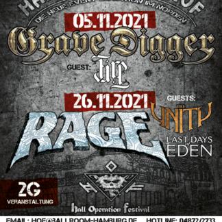 Flyer Grave Digger und Rage